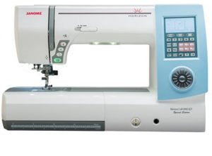 A picture of a Janome Horizon Memory Craft 8900 QCP Special Edition Sewing Machine