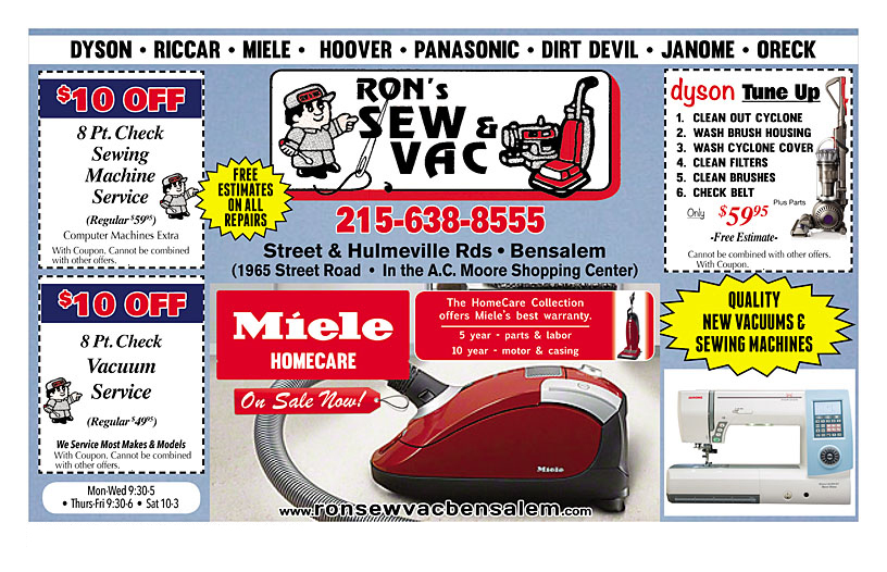 Ron's Sew and Vac Coupon 01