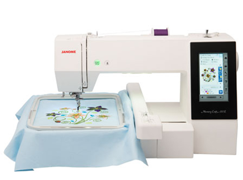A Picture of a Janome 500E Sewing Machine