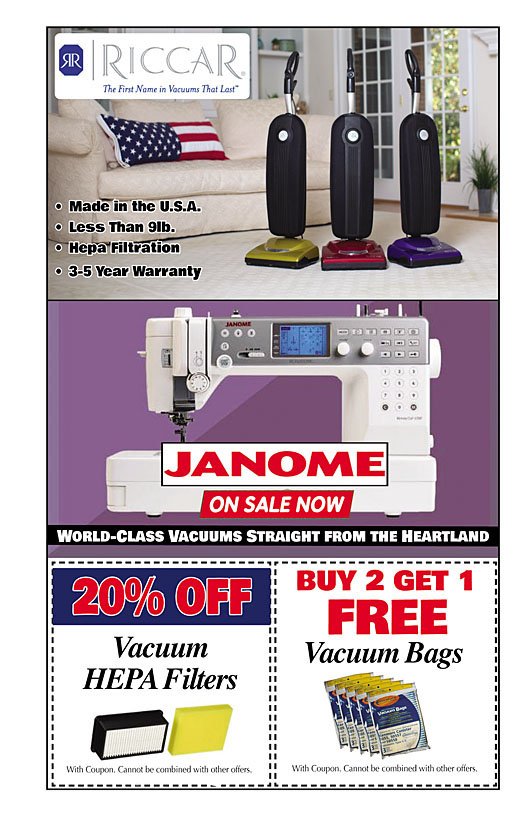 Ron's Sew and Vac Coupon 02